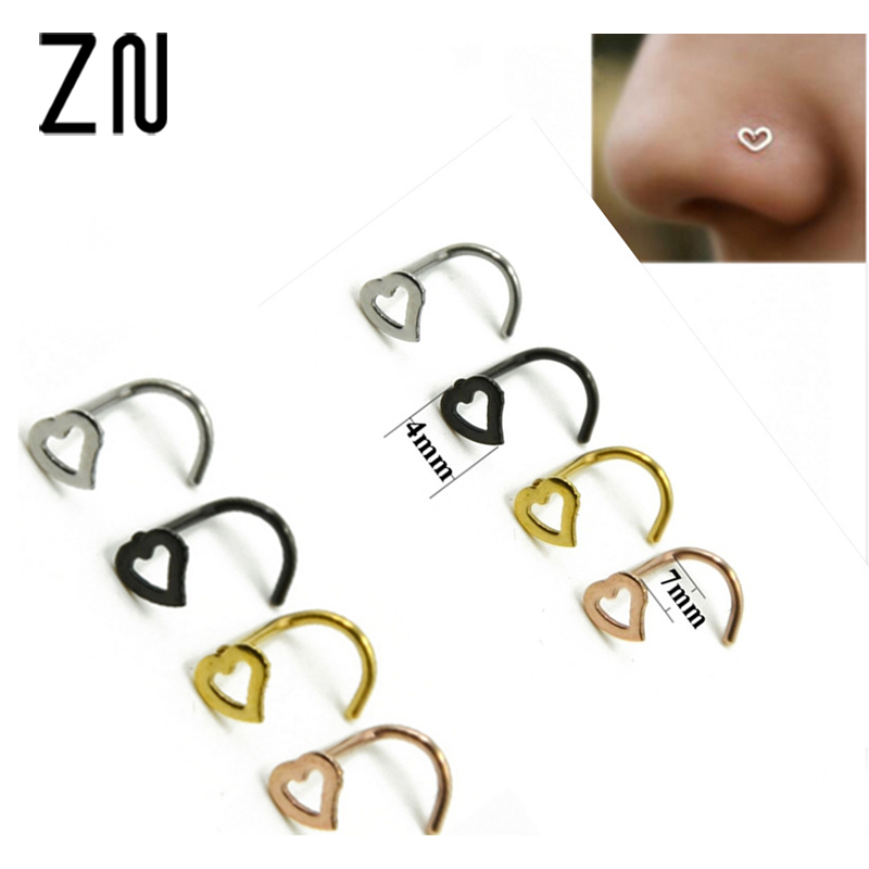 Heart Nose Studs SHAPES Pins Rings Womens Jewellery jewellery
