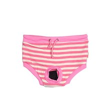DSHA New Hot Casual Pink Pet Puppy Dog Physiological Menstrual Diaper Size M