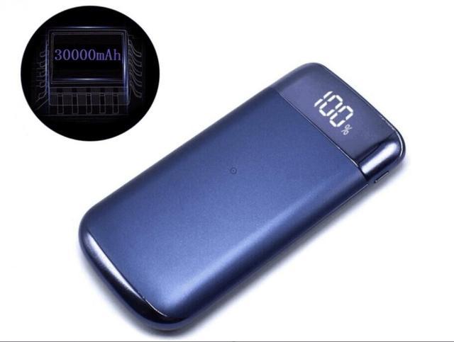 Banco de energía caliente 30000 mah cargador LCD externo batería portátil USB banco de energía móvil banco de batería 18650 2