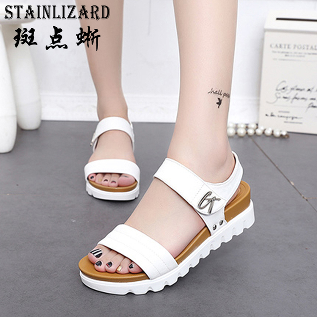 2164a6e22cd3 2017 Platform Summer Beach Girls Sandals Bohemia Wedge Gladiator Casual Sexy  Fashion Women Shoes Sandals BT568