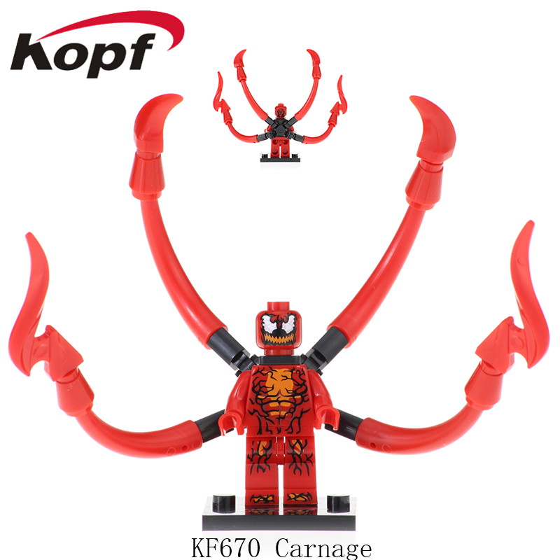 KF670 Single Sale Super Heroes Avengers Spiderman Anti-Venom Captain American Carnage Action Figures Doll For Children Gift Toys image
