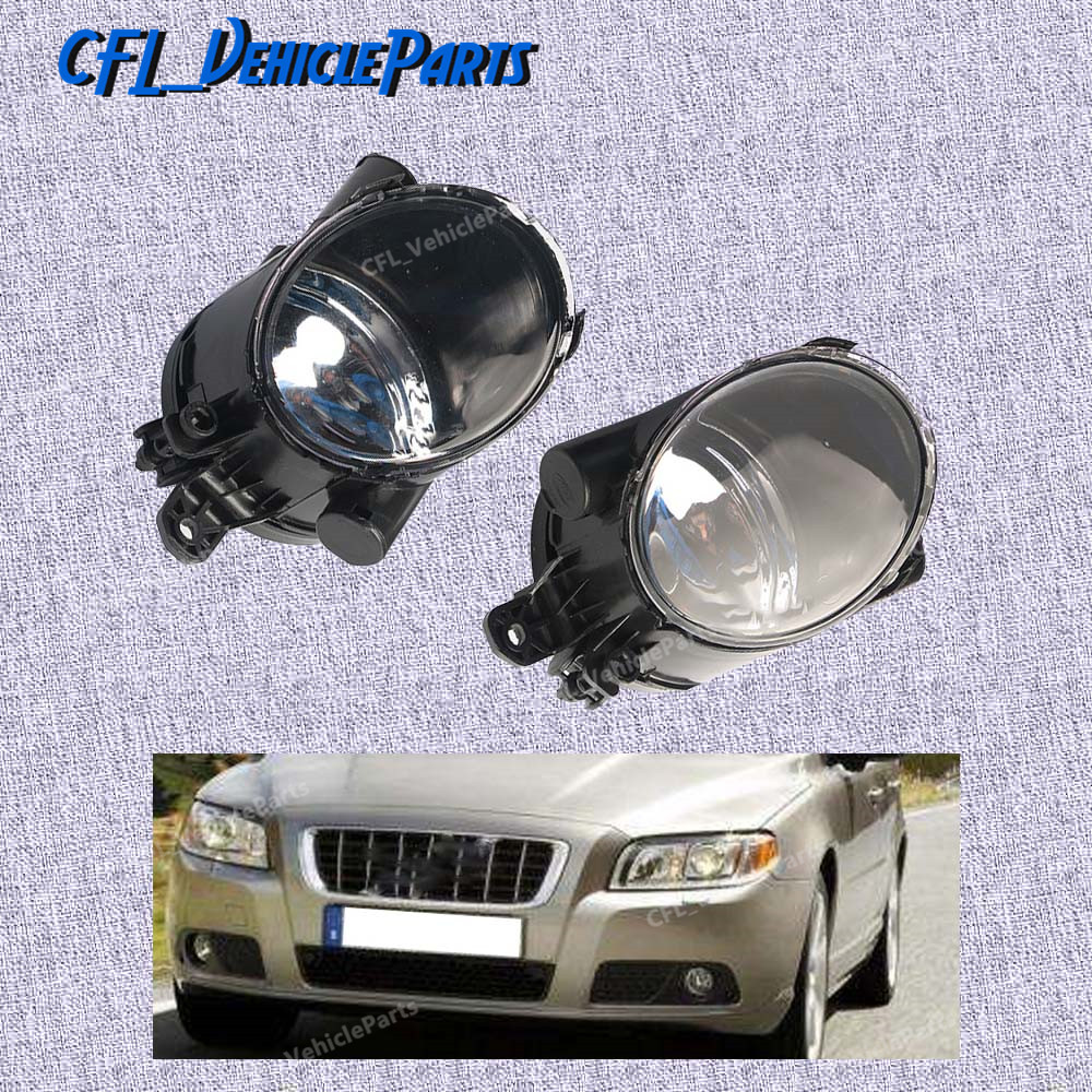 Pair Front L R Fog Light Lamp Foglight No Bulb 31213101 31213102 For Volvo S80 2007