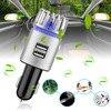 2 In 1 Auto Dual Usb Fresh Air Ionic Purifier Oxygen Bar Ozon Ionisator Rook Generator Voor Auto Schonere Auto lucht Ionisator Luchtreiniger