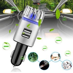 Image 1 - Purificateur dair frais 2 en 1 pour voiture, double USB, purificateur dair frais, barre doxygène, Ozone, générateur de fumée pour voitures, nettoyeur de voiture