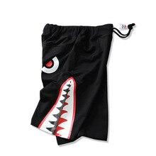 Шорты для отдыха повседневная натуральный хлопок Лидер продаж мужская мода короткие мужской моды эластичный пояс акулы рот печати шорты