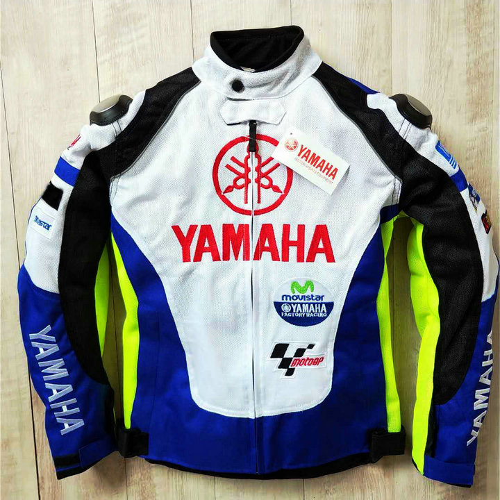 NEW 2019 Summer Motocross Racing For Yamaha M1 Blue and White Racing Jacket Autombile Race Clothing