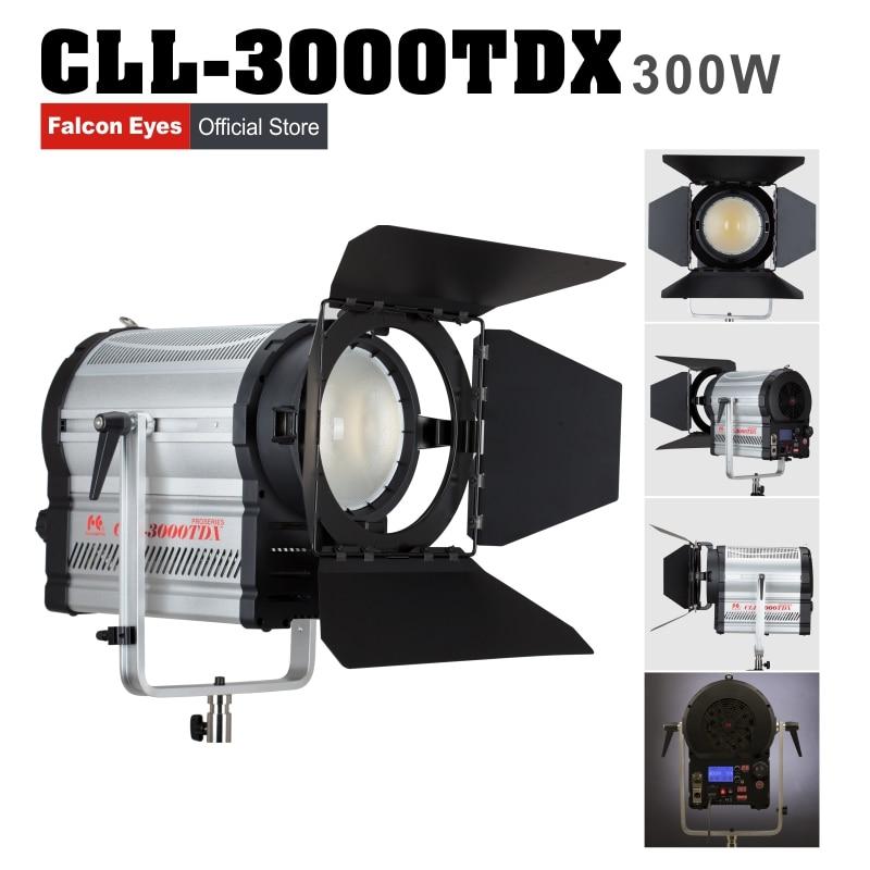 Falconeyes estúdio luz fotografia lâmpada 3000 k-8000 k temperatura de cor brilho ajustável com lcd & touch panel cll-3000tdx