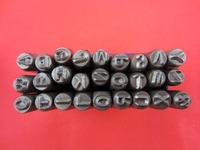 Free Shipping Leather Tool 1 8 3 MM Capital Letter A Z Punch Stamp Set 27