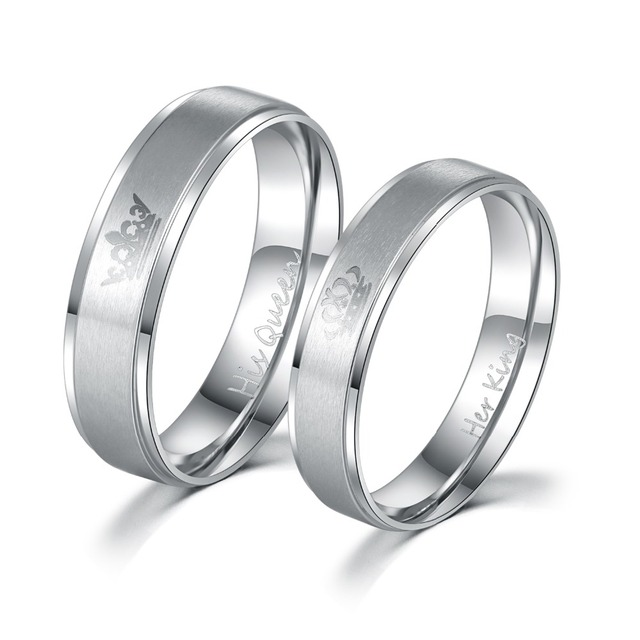 Gaxybb Free Shipping Stainless Steel Rings Lover Design From Your