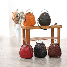 YIFANGZHE Girls Small Genuine Cowhide Women Leather Bags, Retro Mini Messenger /Crossbody Bag with Top Handle for Ladies