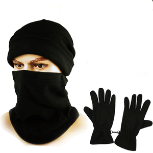 Gloves Soccer-Scarf Football Sports Warm Outdoor Circle Wind-Caps Can-Be-Hat Neck-Collar