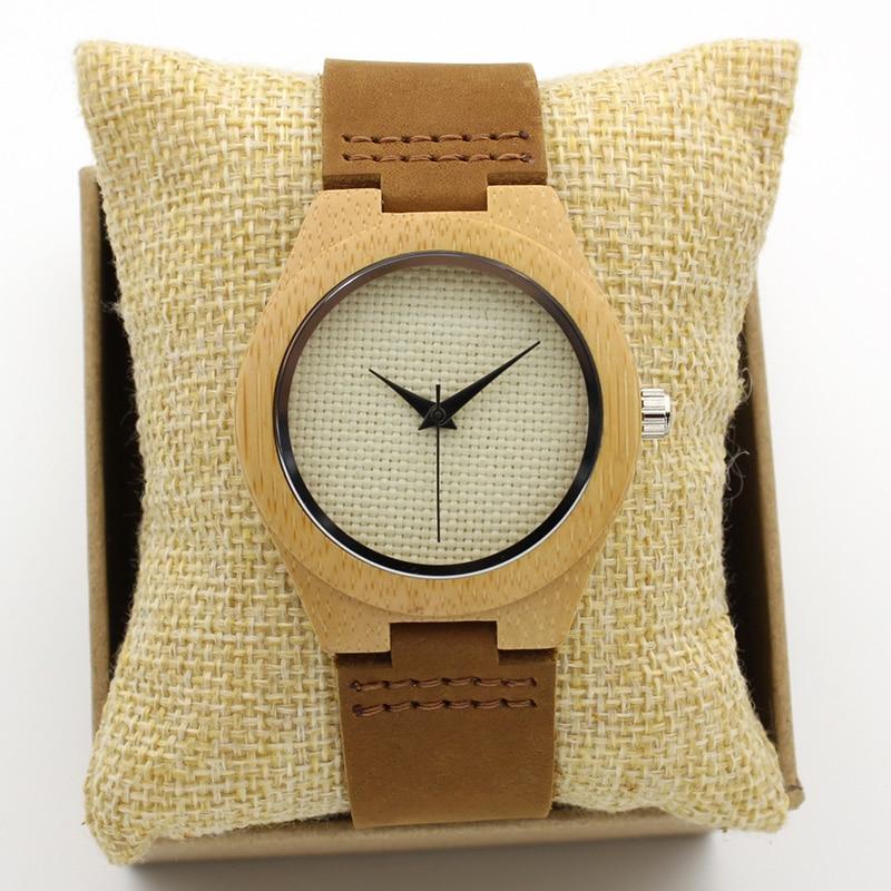 Luxury Japan Quartz White Weave Women Wood Watch Fashion Classic Vintage Genuine Leather Band Bamboo Wristwatches Antibrittle new men design bamboo wristwatches with wider genuine cowhide band for men and women luxury wood wrist watch as gifts