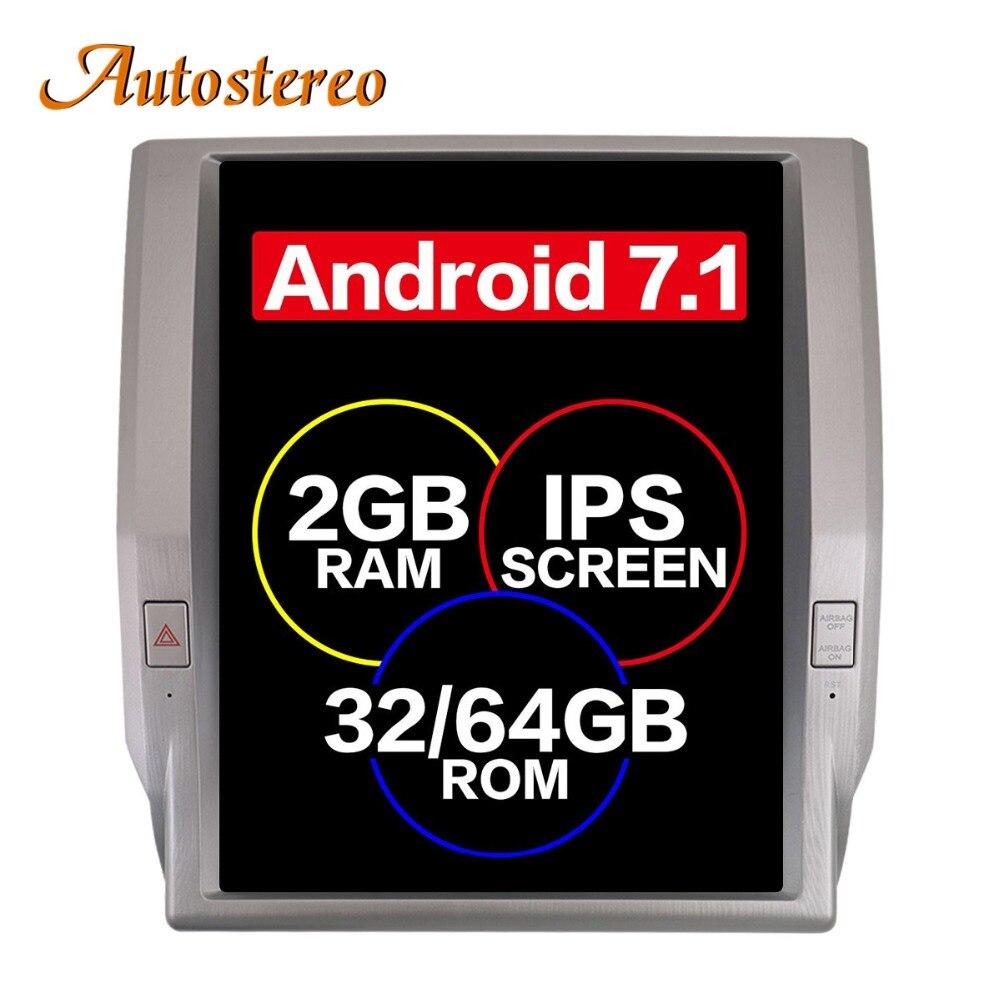 Android Tesla stile Auto no Lettore DVD di Navigazione GPS Per Toyota Tundra 2014-2017 unità di testa stereo multimediale auto radio auto Pad