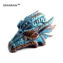 Grainrain 3D Дракон Плесень Свеча формы силиконовые мыло формы DIY ремесло Домашний смолы плесень