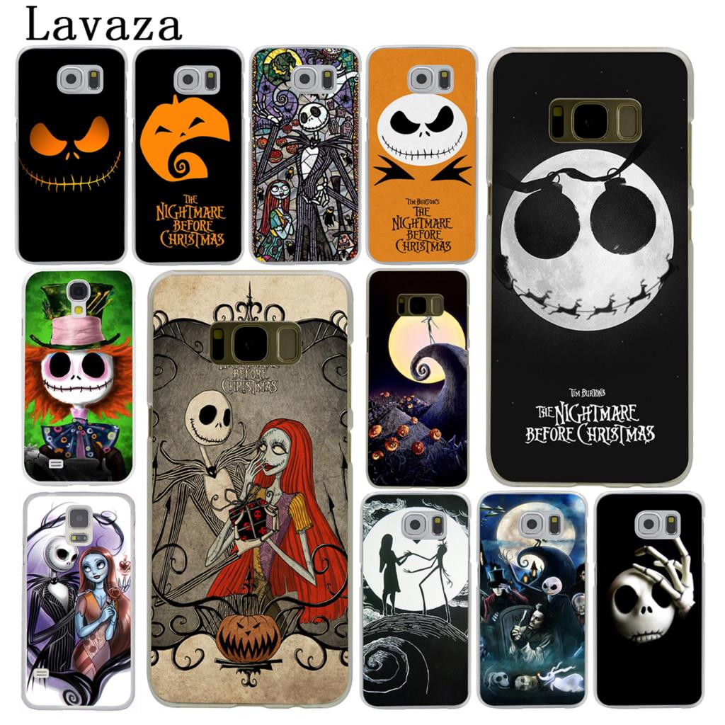 Nightmare Before Christmas Phone Case.Us 1 75 35 Off Lavaza The Nightmare Before Christmas Cartoon Hard Phone Case For Samsung Galaxy S6 S7 Edge S8 S9 S10 Plus S10e Cover In Half Wrapped