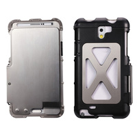 Iron Man Style Aluminum Metal Cellphone Case For Galaxy Note 2 II N7100