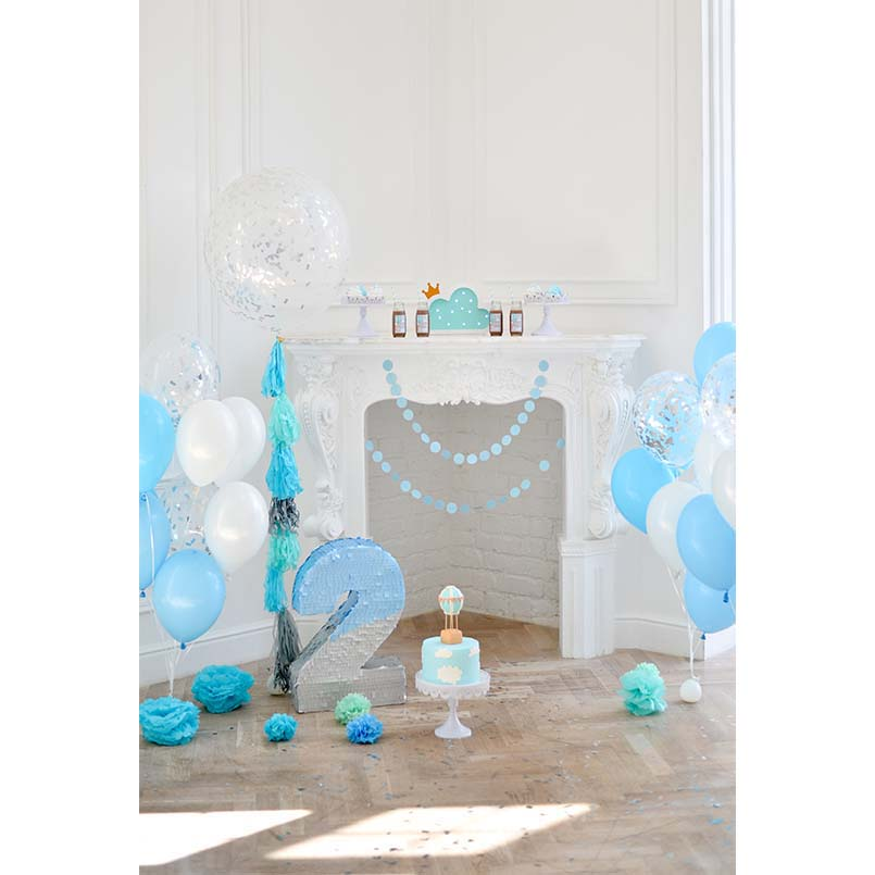 Lovely Baby Blue Backdrops 2 Years Old Birthday Photography Backgrounds For Photo Studio Photography Accessories Backdrop