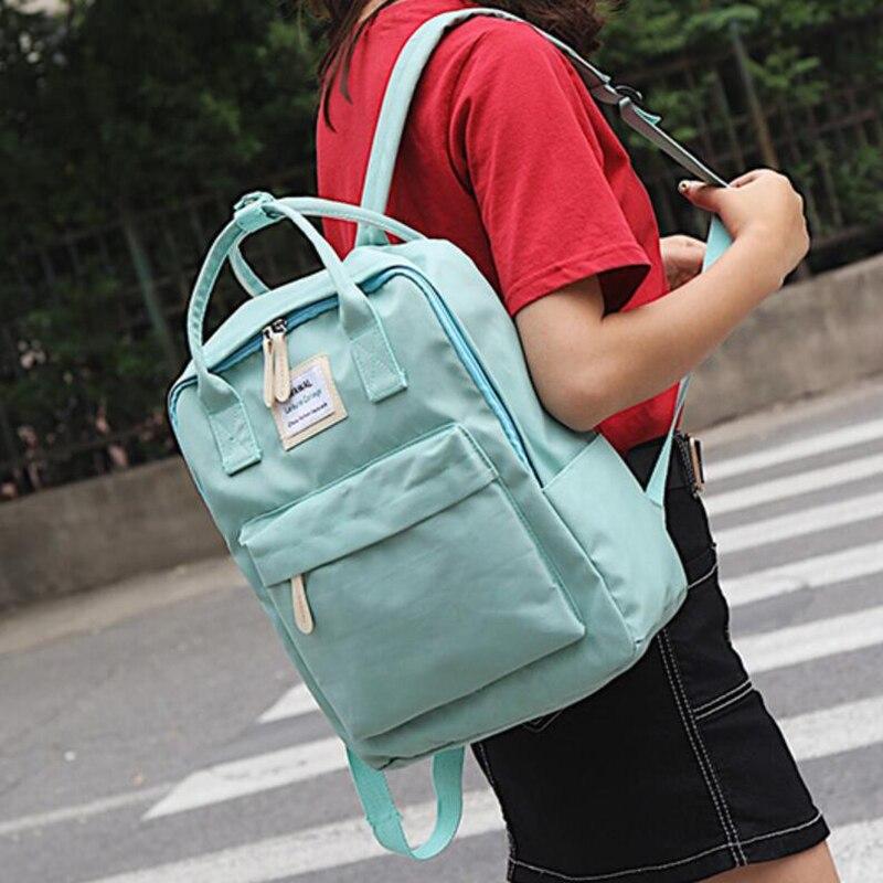HTB1kRCCdjbguuRkHFrdq6z.LFXac Yogodlns Campus Women Backpack School Bag for Teenagers College Canvas Female Bagpack 15inch Laptop Back Packs Bolsas Mochila