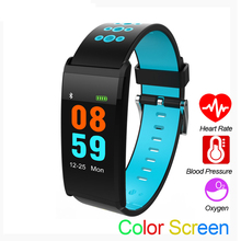 GIMTO Color Screen Smart Band 4 Fitness Tracker Watch Men Sleep Monitor Heart Rate Women Blood Pressure Waterproof