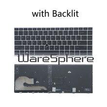 Nouveau clavier anglais américain dorigine pour HP EliteBook 840 G5 846 G5 745 G5 avec clavier dordinateur portable rétroéclairé/Non rétroéclairé