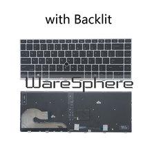 ใหม่Original USแป้นพิมพ์ภาษาอังกฤษสำหรับHP EliteBook 840 G5 846 G5 745 G5 พร้อมMouse Mouse Backlit/ คีย์บอร์ดแล็ปท็อป