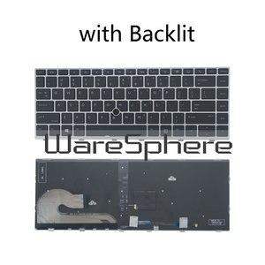 Image 1 - Teclado de inglês eua para hp elitebook, original, 840 g5 846 g5 745 g5 com ponto de mouse, retroiluminado/sem teclado de laptop iluminado