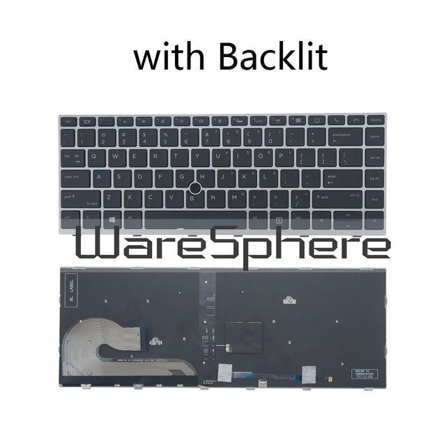 Yeni orijinal abd İngilizce klavye için HP EliteBook 840 G5 846 G5 745 G5 fare noktası arkadan aydınlatmalı/olmayan arkadan aydınlatmalı Laptop klavye