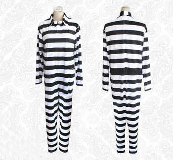 Anime Prison School Kiyoshi Fujino Cosplay Costume Stripe Prison Uniform Suit One-piece Jumpsuit Pajamas - DISCOUNT ITEM  20% OFF Novelty & Special Use