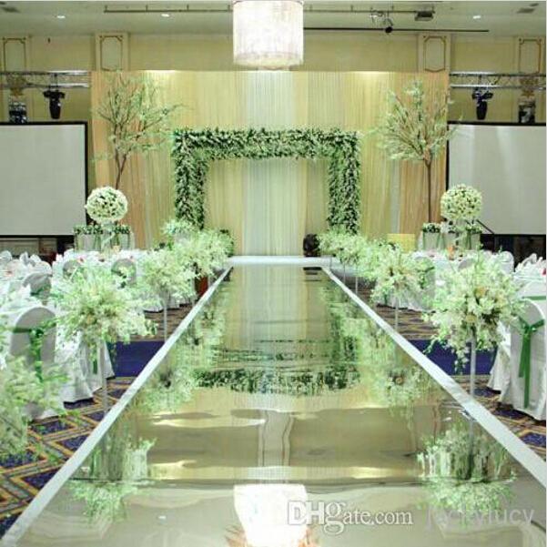 Wedding Aisle Decoration Ideas: 10m Per Lot 1.2m Wide Shine Silver Mirror Carpet Aisle