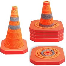 MYSBIKER Collapsible Traffic Cone 15,5 Inches, Multi Purpose Pop up Reflective Safety Cone