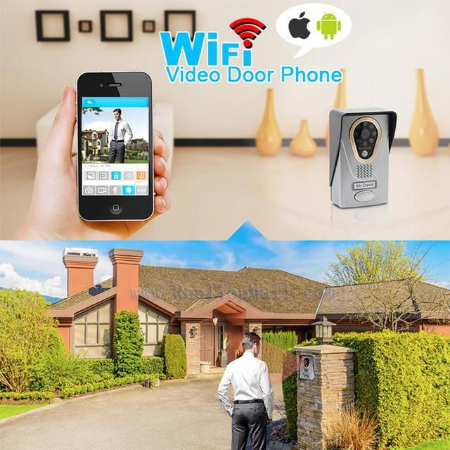IP Video Door Phone with IOS / Android smartphone Intercom Home Security Video Intercom with Camera Motion Sensor Night Vision