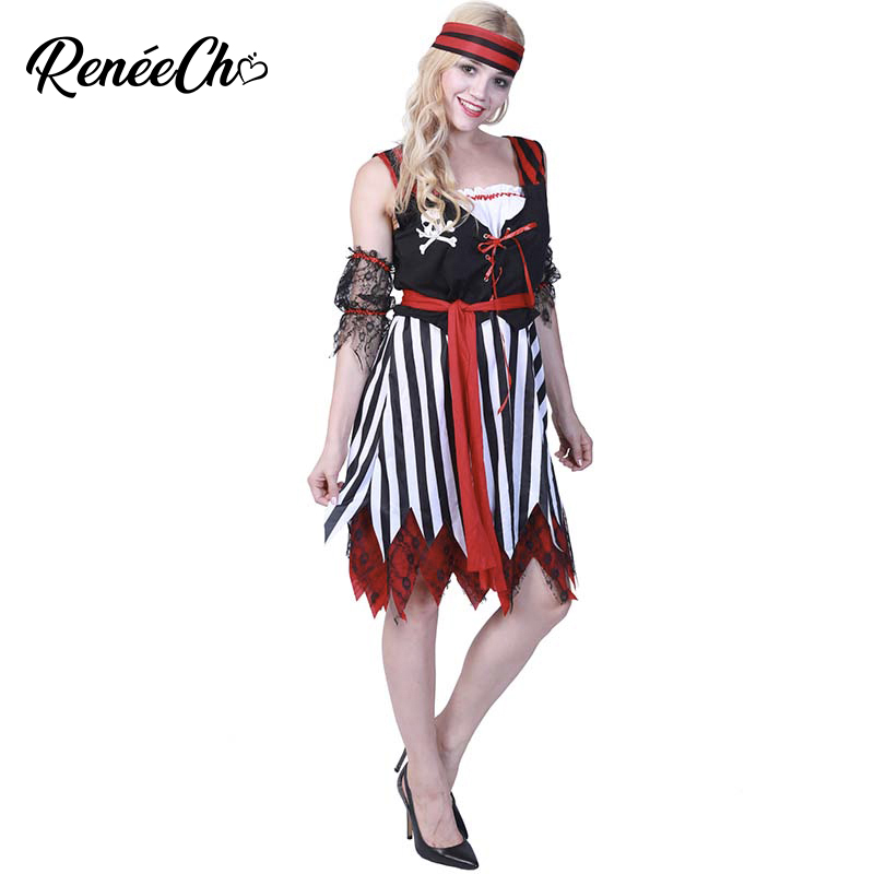 Halloween Costume For Adult Sweet Buccaneer Costume Female Pirate Wench Costume Adult Caribbean Queen Of The High Sea Cosplay