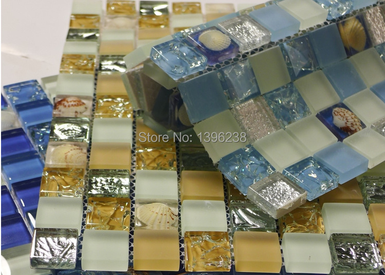 Natural shell mosaic mother of pearl crystal puzzle kitchen backsplash Bathroom background wall mosaic decorative sticker,LSBK50 ocean blue pearl shell mosaic tile gray natural marble kitchen backsplash sea shell tiles subway glass conch wall tiles lsbk53