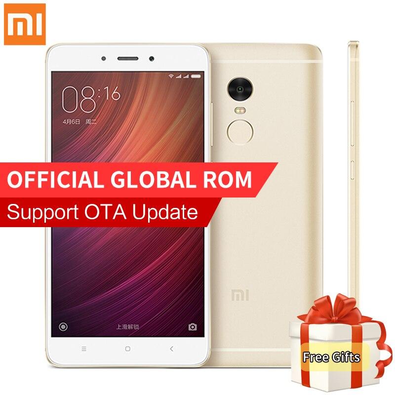 """Original Xiaomi Redmi Note 4 Pro Prime 3GB RAM 64GB ROM cellphone MTK Helio X20 Deca Core 5.5"""" FHD 4100mAh Mi Note 4 Fingerprint"""