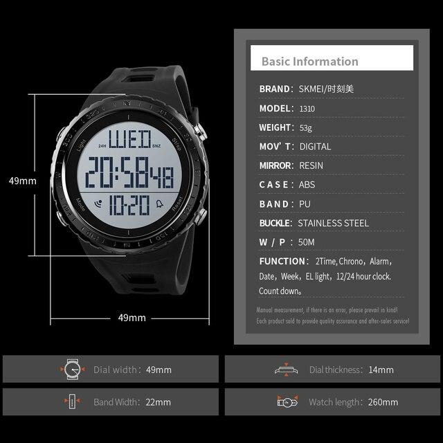 SKMEI Men Sport Watch Outdoor Swimming Diving Digital Watch Electronic Wrist Watches Waterproof Man Hour Clock Relogio Masculino