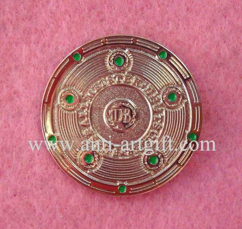 Мягкие эмалированные значки 3D булавки значок Золотая коллекция монета покрытием высокое качество компания эмблема 1 ''круглый форма EXW цена