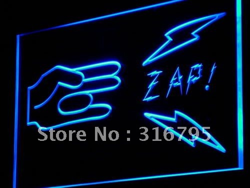 i923 Shocker Zap! Funny Sex Porn Decor NEW Light Sign On/Off Swtich 20+ Colors 5 Sizes