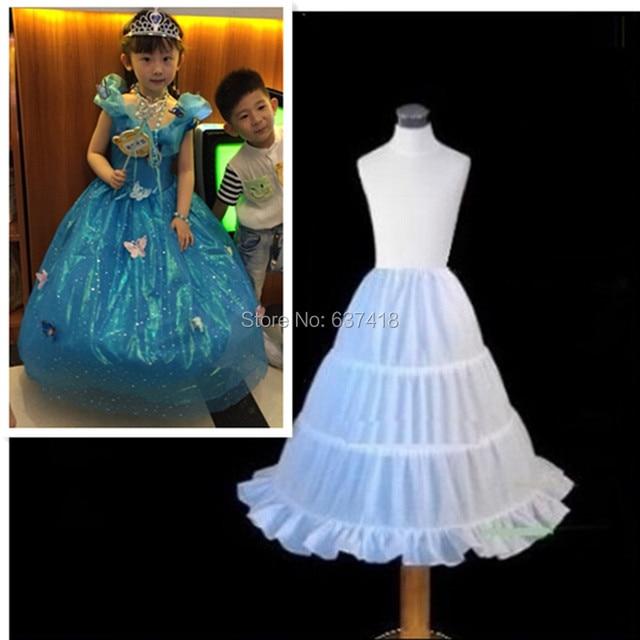 0cc0c9157313 Free Shipping Long Child Petticoat for Children Girl 3 Hoop Petticoat  Crinolines Slip Underskirt for Flower Girl Dress 55cm