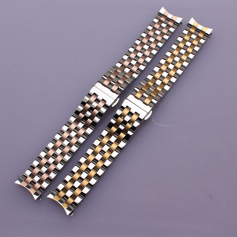 New 16mm 18mm 20mm 22mm 22mm fashion watchband straps bracelet mixed color watches accesserios Gold Silver Rosegold curved end gold watchband for luxury watches brand stylish watches accessories 18mm 20mm 22mm fashion thiner bracelets promotion price new