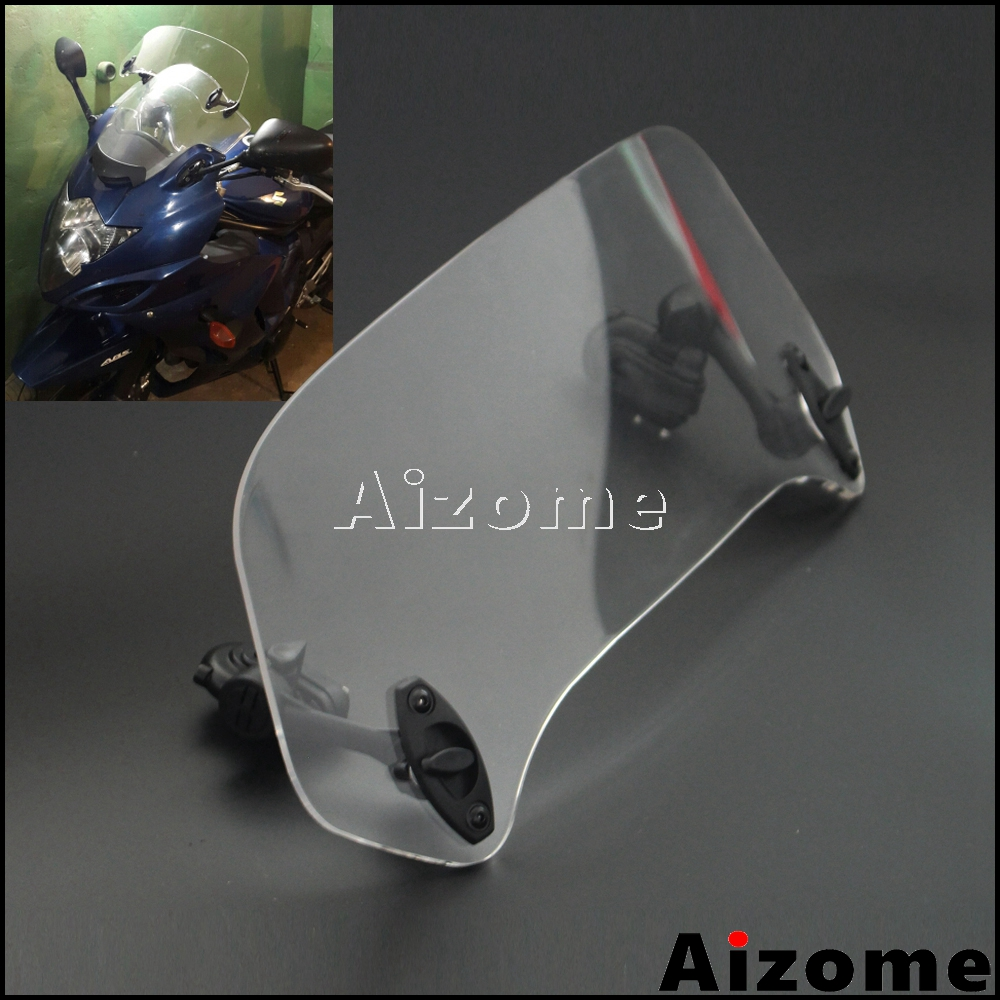 Universal Motorbike Clip-on Spoiler Windshield Windscreen Extension X-Creen For Honda CBR500X VFR1200X NC700X <font><b>NC750X</b></font> CROSSTOURER image