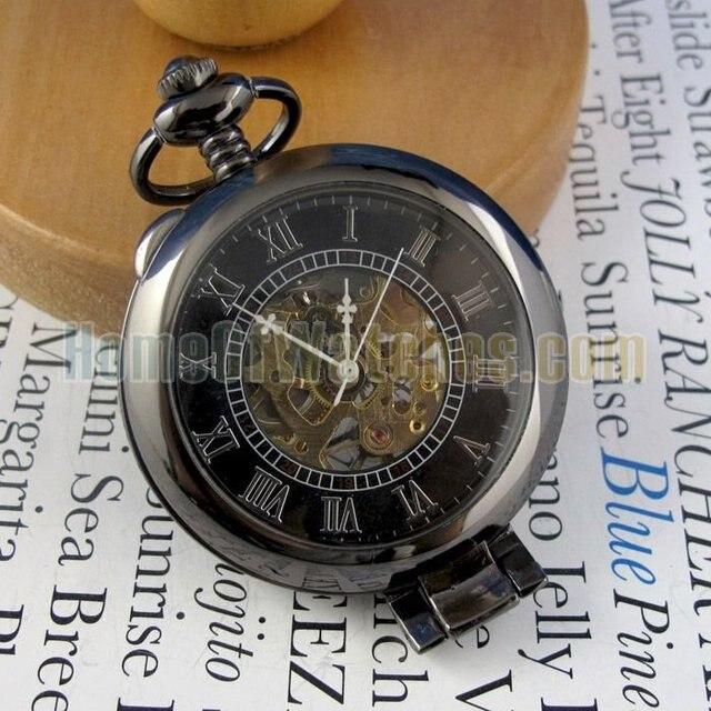 OEM pocket watch, Black Mechanical Watch (NBW0PO6394-BR3)