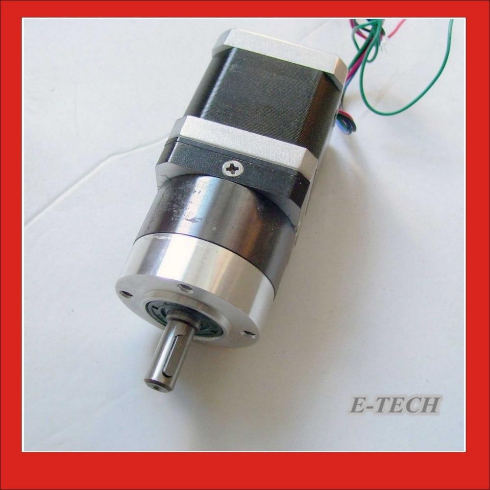 40: 1 NEMA 17 engrenage planétaire moteur pas à pas longueur du corps 48mm Total 121.5mm