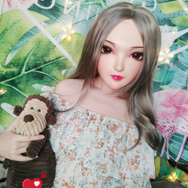 gurglelove Female Sweet Girl Resin Half Head Kigurumi Bjd Mask Cosplay Japanese Anime Role Lolita Mask Crossdress Doll Spirited yan-0