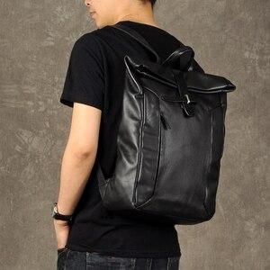 Image 2 - AETOO A primeira camada de couro mochila masculino mochila mochila de couro do vintage marca de moda de lazer saco de viagem de couro grande