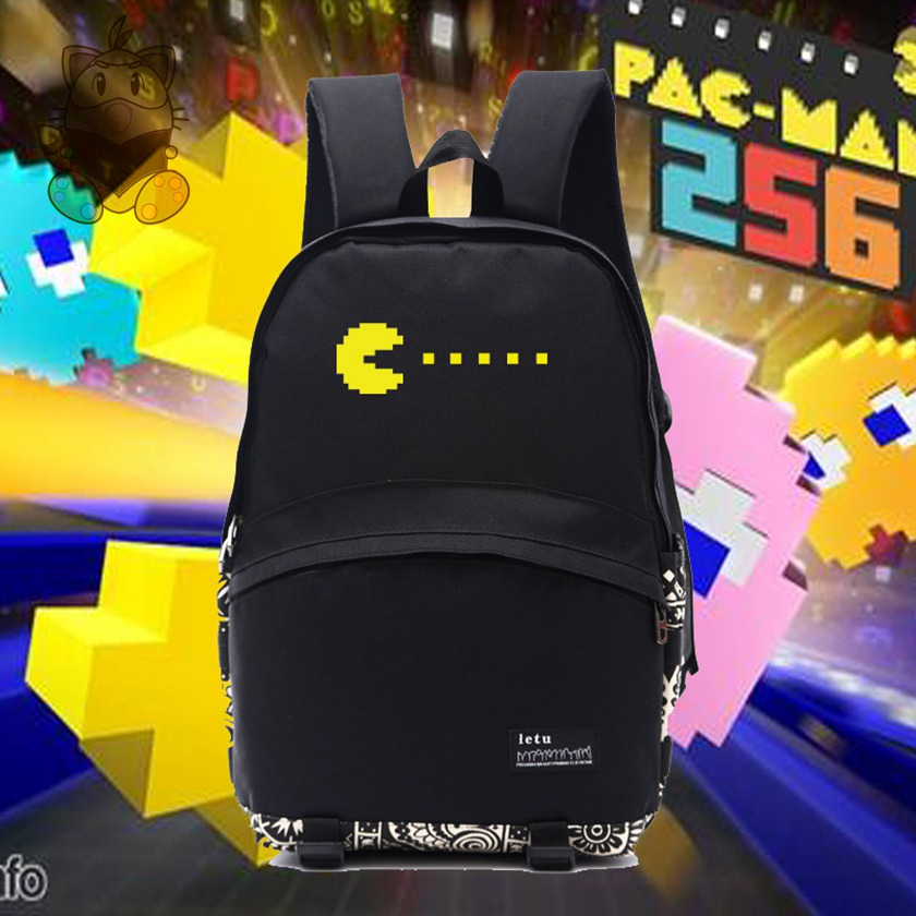 NEW DESIGNED retro game backpack PACMAN inspired backpacks gift for classic game fans nb041 congminggu chessmen board game flying chess carpet kid classic flight game toy classic puzzle game enjoy family fun gift for kid
