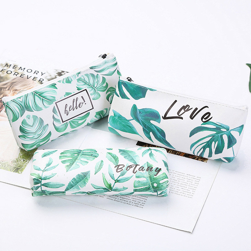 1pcs/1lot Kawaii Pencil Case Turtle Leaf Gift Estuches School Pencil Box Pencilcase Pencil Bag School Supplies Stationery