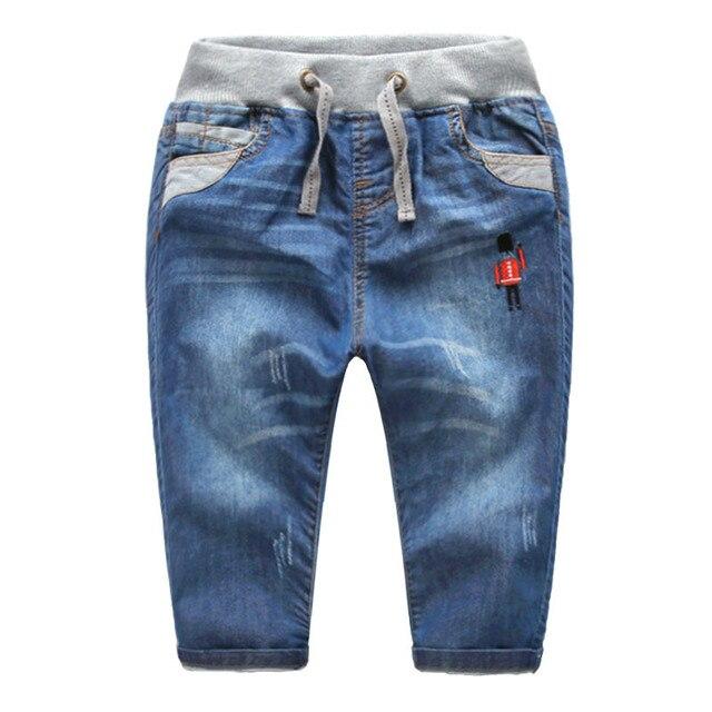Мальчики джинсы 2016 весна и осень детская одежда ребенка мыть водой случайные брюки мальчик джинсовые брюки