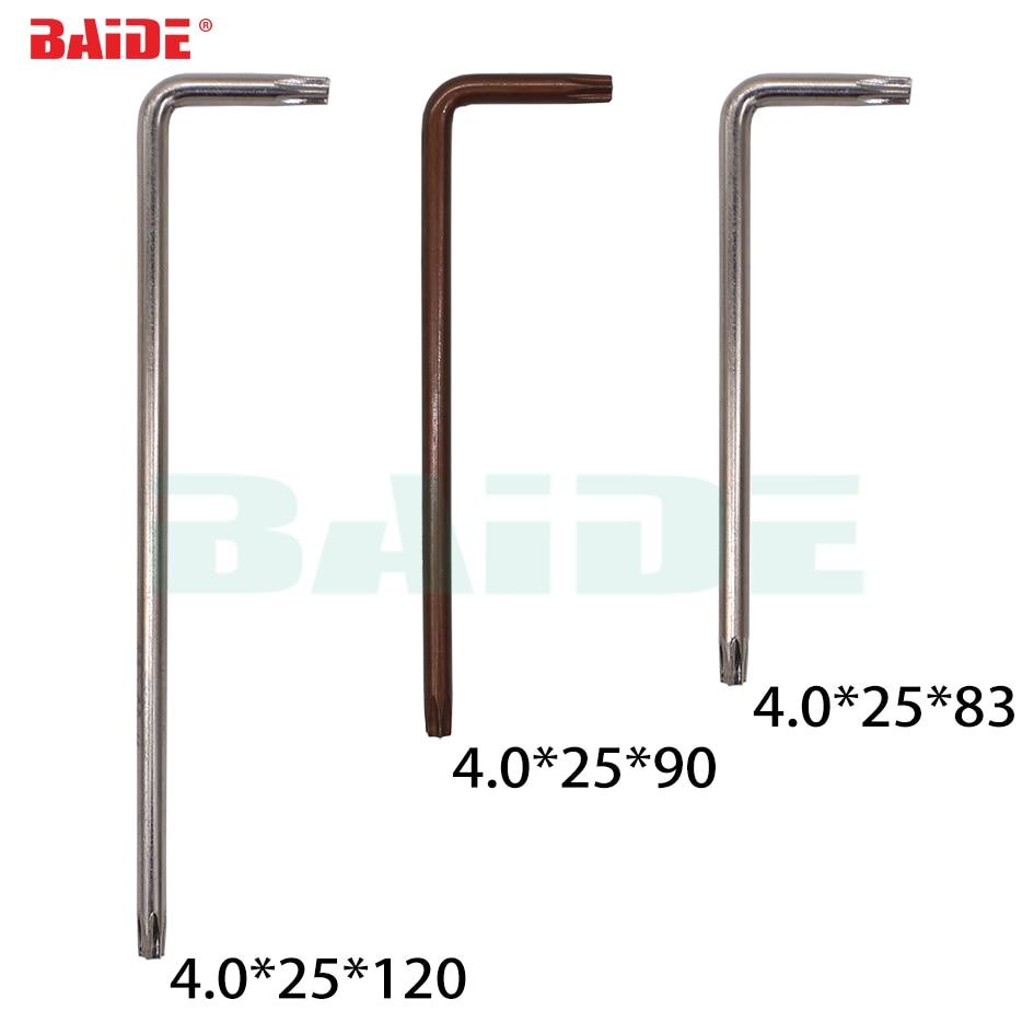 4 0mm Torx T15 T20 L Key With Hole 45 S2 Steel Screwdriver Wholesale 500pcs lot