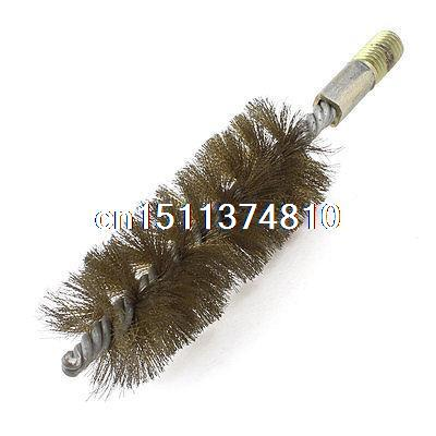 38mm Diameter Metal Round Wire Tube Cleaning Brush 6.3 Long Gold Tone