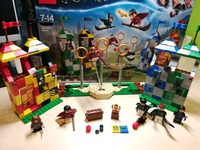 In Stock Harri Movie Potter 169pcs Magic Quidditch Match Model Compatible with Legoings 75956 Set Building Blocks Kids Toys
